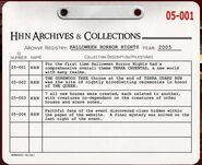 HHN 2005 Archive Registry