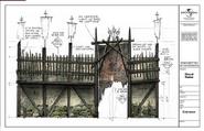 Blood Ruins Facade Concept Art