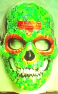 Chainsaw Troop Green Diamond Skull Mask