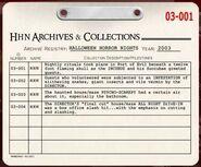 HHN 2003 Archive Registry