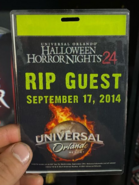 Halloween Horror Nights 24 RIP Guest Pass Front