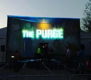 BlumHouse Facade (The Purge Sign)