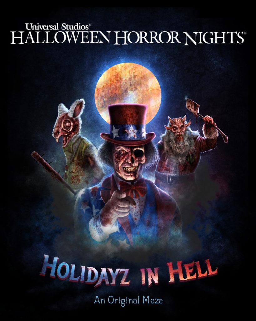 Halloween Horror Nights 2020 Hollywood Wiki Holidayz in Hell (Haunted Maze) | Halloween Horror Nights Wiki