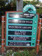 Night Prey Attractions Sign