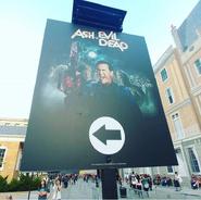 Ash Vs. Evil Dead Entrance Sign