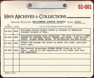 HHN 2002 Archive Registry