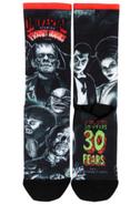 Retro Fright Nights 1990 Monsters Socks