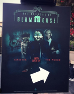 The Horrors Of Blumhouse Entrance Sign