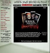 HHN 2004 Horror Nights Nightmares Website Description
