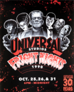 Retro Fright Nights 1990 Monsters Poster