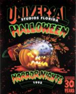 Retro Halloween Horror Nights 1992 Pumpkin Poster