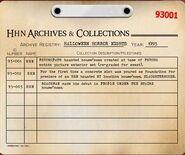 HHN 1993 Archive Registry