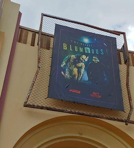 HHN 28 The Horrors Of BlumHouse Front Gate Banner.png