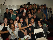 Darryl Maximilian Robinson and The Entire Cast of The Wolfman The Curse of Talbot Hall
