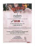 HHN 2009 Student Deal