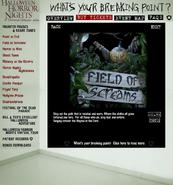 HHN 2004 Field of Screams Website Description