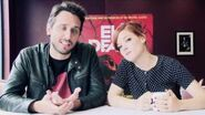 Evil Dead Director Fede Alvarez and star Jane Levy interview for Evil Dead maze