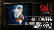 SAW- The Games of Jigsaw House Reveal - Halloween Horror Nights 2017