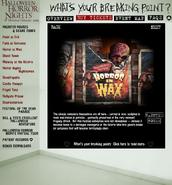 HHN 2004 Horror in Wax Website Description