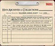HHN 1996 Archive Registry
