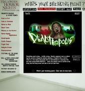 HHN 2004 Deatropolis Website Description