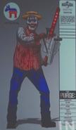 Chainsaw Barbershop Quartet Clown 1 Concept Art