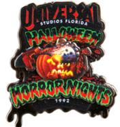 Retro Halloween Horror Nights 1992 Pumpkin Pin