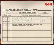 HHN 1998 Archive Registry