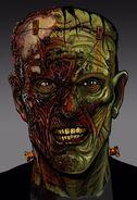 Frankenstein's Monster Close-Up Concept Art