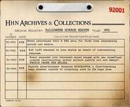 HHN 1992 Archive Registry