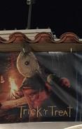 HHN 2018 Trick 'r Treat Front Gate Banner
