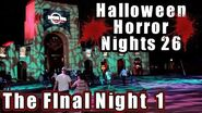 Halloween Horror Nights 26 Final Night 1 Vlog