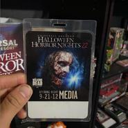 The Walking Dead Halloween Horror Nights 22 Opening Night Media Pass