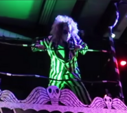Beetlejuice on top of a stage
