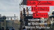 ROB ZOMBIE HELLBILLY DELUXE (scarezone at Halloween Horror Nights 29)