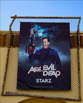 HHN 27 Ash Vs. Evil Dead Front Gate Banner.png