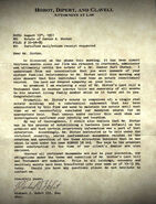 HIW Attorney Letter