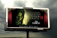 HHN 26 Exorcist Billboard