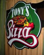 Tony's Pizza Sign