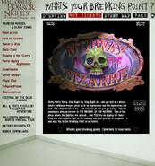 HHN 2004 Midway of the Bizarre Website Description