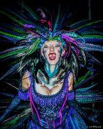 Carnival Peacock Girl