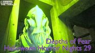 Depths of Fear highlights at Universal Orlando's Halloween Horror Nights 29 in nightvision