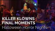 Killer Klowns from Outer Space final moments at Halloween Horror Nights 28