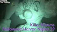 Killer Klowns highlights at Universal Orlando's Halloween Horror Nights 29 in nightvision