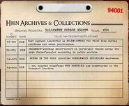HHN 1994 Archive Registry