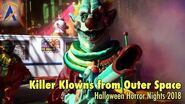 Killer Klowns from Outer Space Scare Zone at Halloween Horror Nights 2018