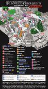 Halloween Horror Nights 2021 (Hollywood) map