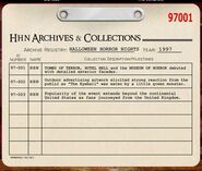 HHN 1997 Archive Registry