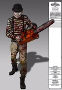 Chainsaw Mime Concept Art
