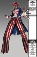 Stiltwalking Uncle Sam Concept Art